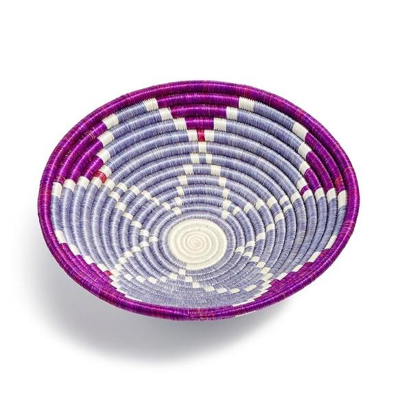 Global Goods Partners Other - Handwoven Rwandan bowl - Purple- Global Goods